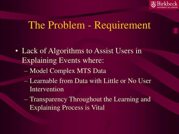 The problem requirement