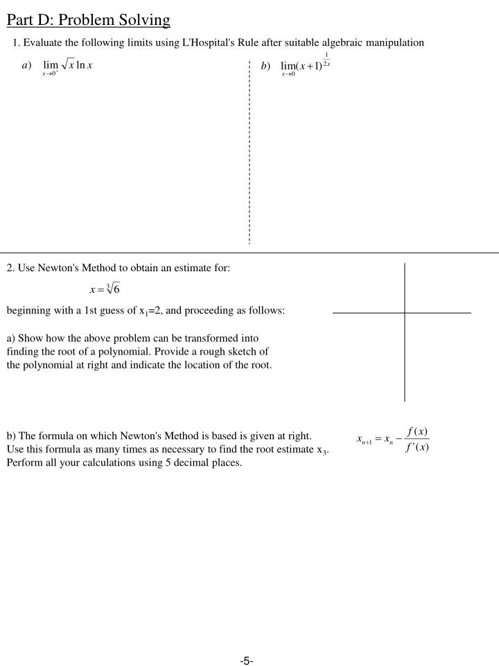 Part D: Problem Solving
