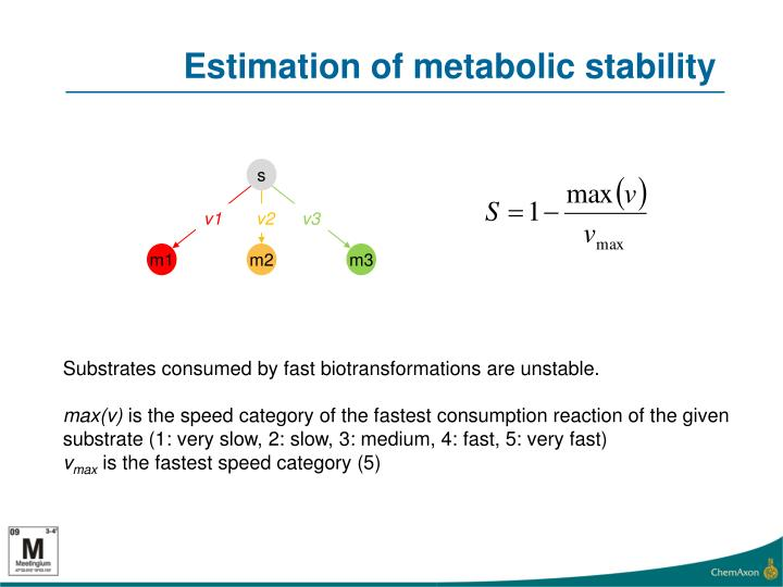 Estimation of metabolic stability