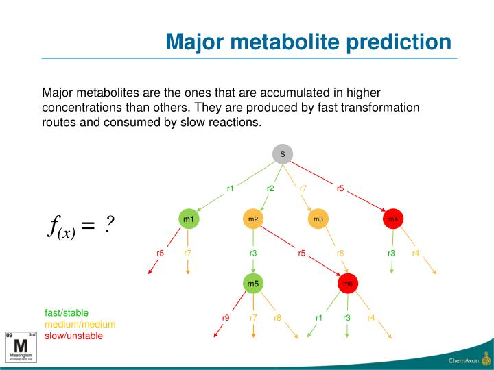 Major metabolite prediction