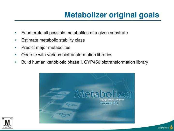 Metabolizer original goals