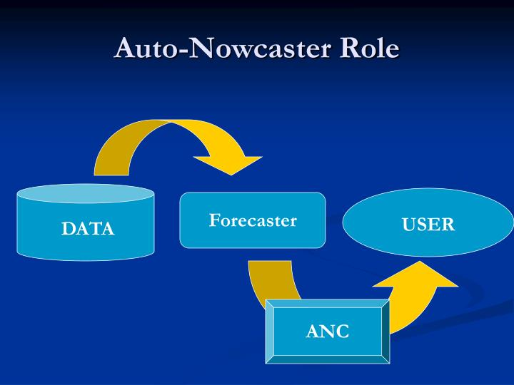 Auto nowcaster role