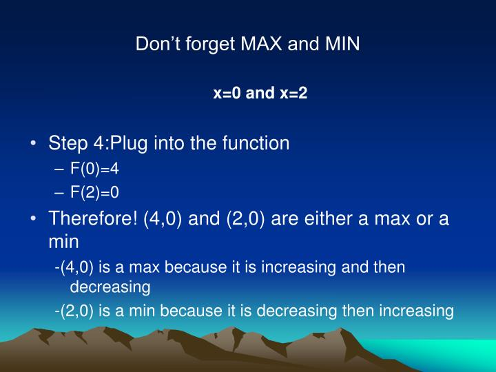 Don't forget MAX and MIN