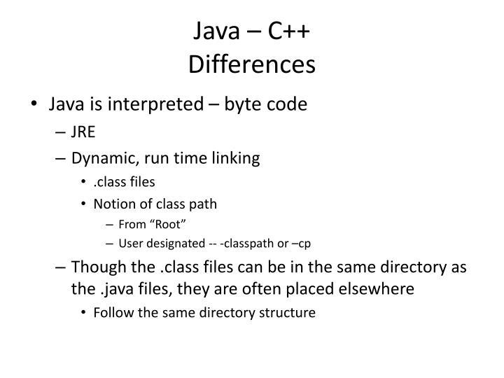 Java – C++