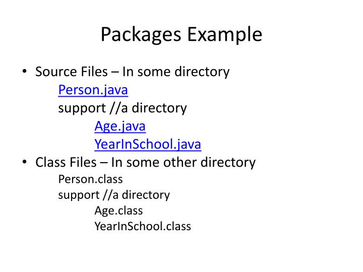 Packages Example
