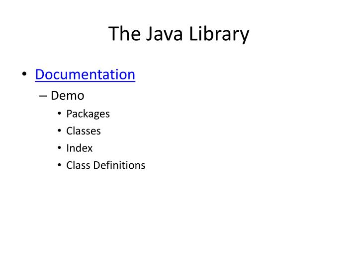 The Java Library