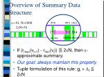 overview of summary data structure1