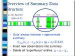 overview of summary data structure7