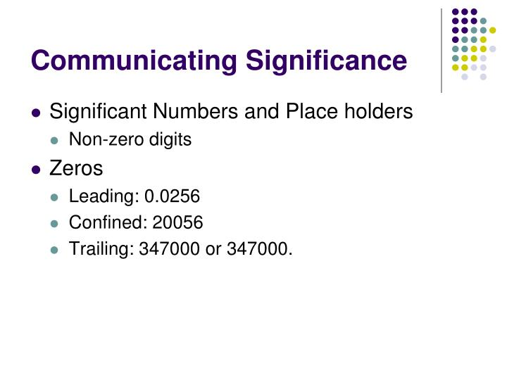 Communicating Significance