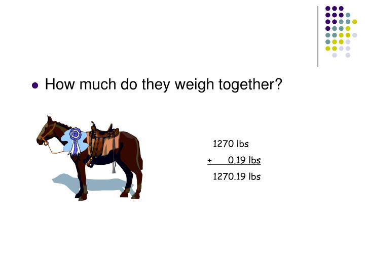 How much do they weigh together?