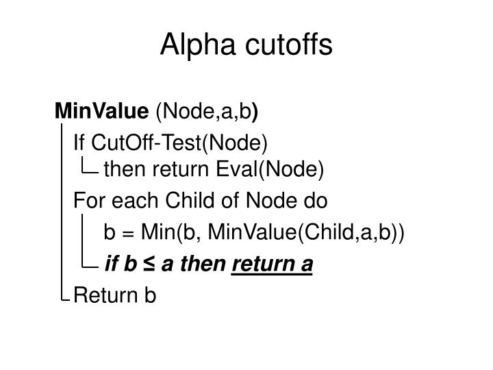 Alpha cutoffs