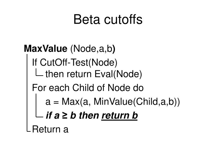 Beta cutoffs