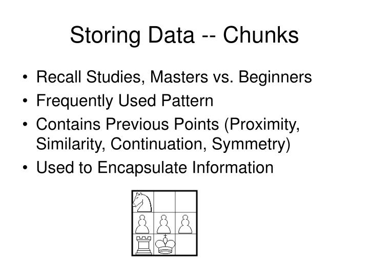 Storing Data -- Chunks