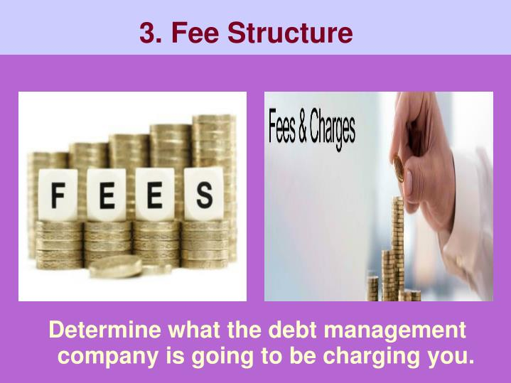 Determine what the debt management company is going to be charging you.