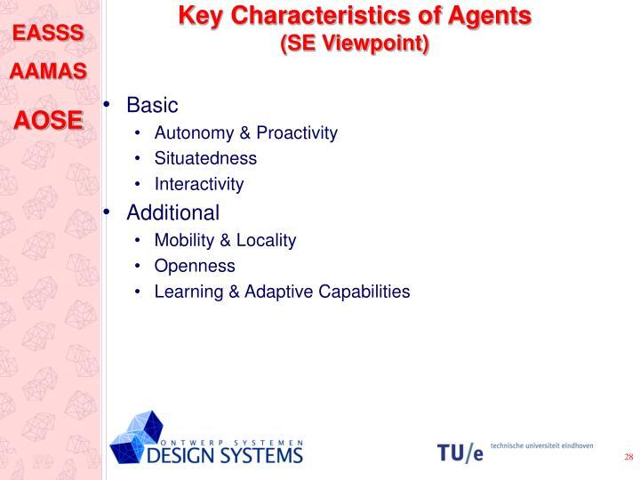 Key Characteristics of Agents