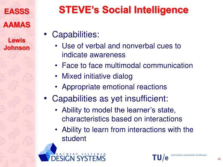 STEVE's Social Intelligence