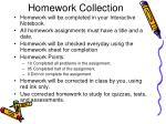 homework collection