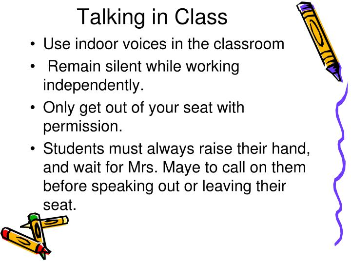 Talking in Class