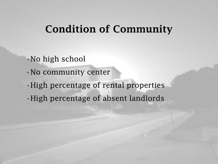 Condition of Community