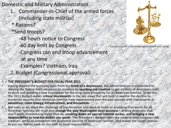 Domestic and Military Administration
