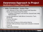 awareness approach to project identification of unique project issues12