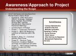 awareness approach to project understanding the scope
