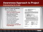 awareness approach to project understanding the scope1