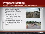proposed staffing similar project experience past performance