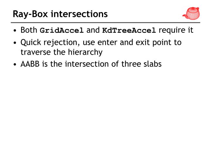 Ray-Box intersections