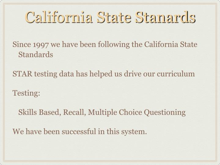 California State Stanards