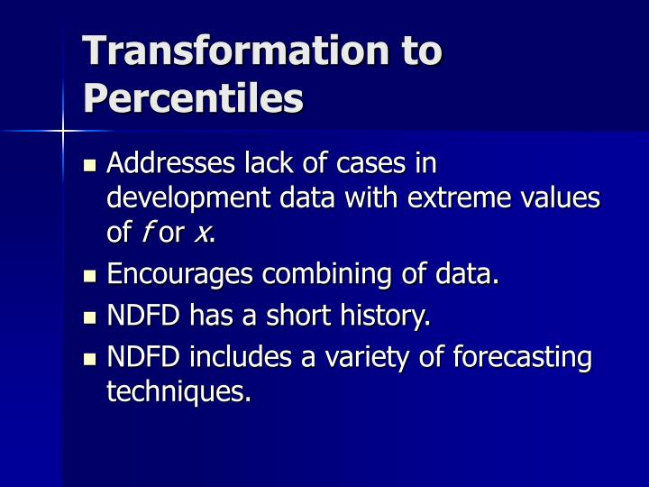 Transformation to Percentiles
