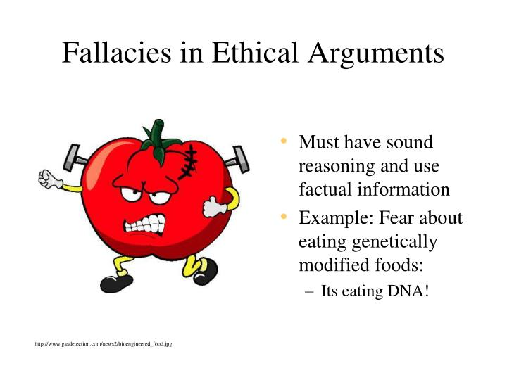 Fallacies in Ethical Arguments