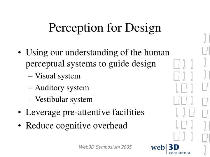 Perception for Design