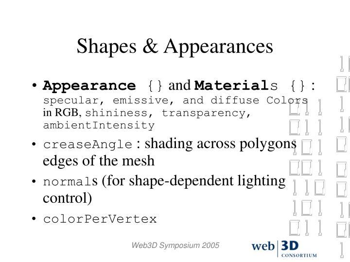 Shapes & Appearances