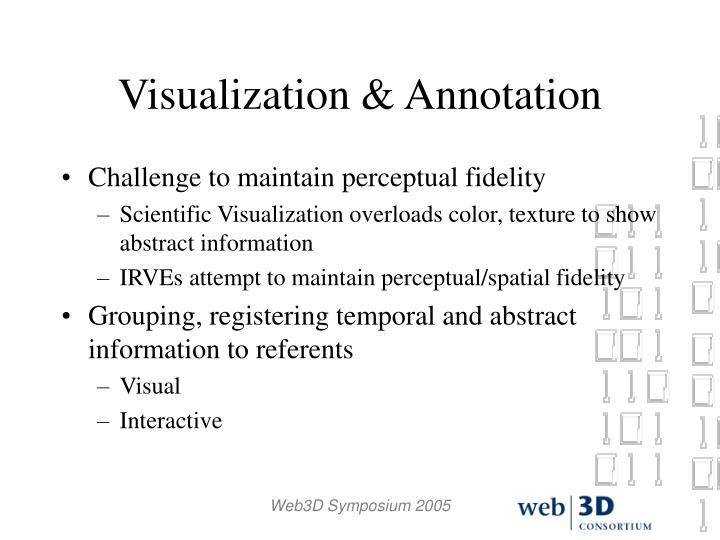 Visualization & Annotation