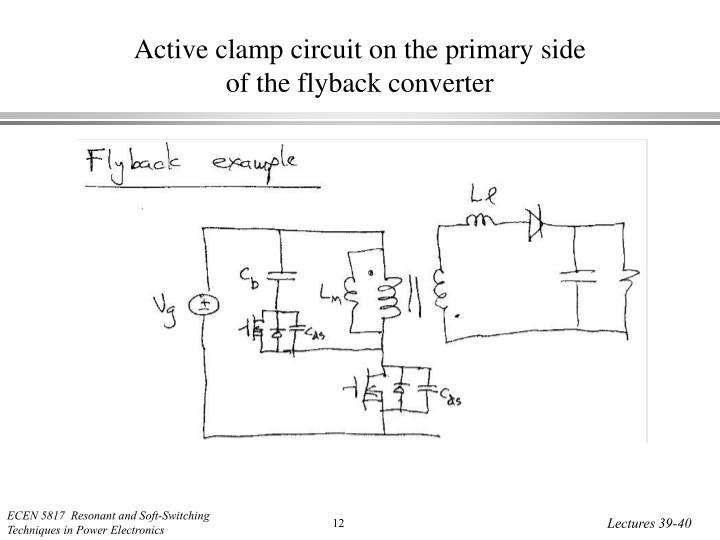 Active clamp circuit on the primary