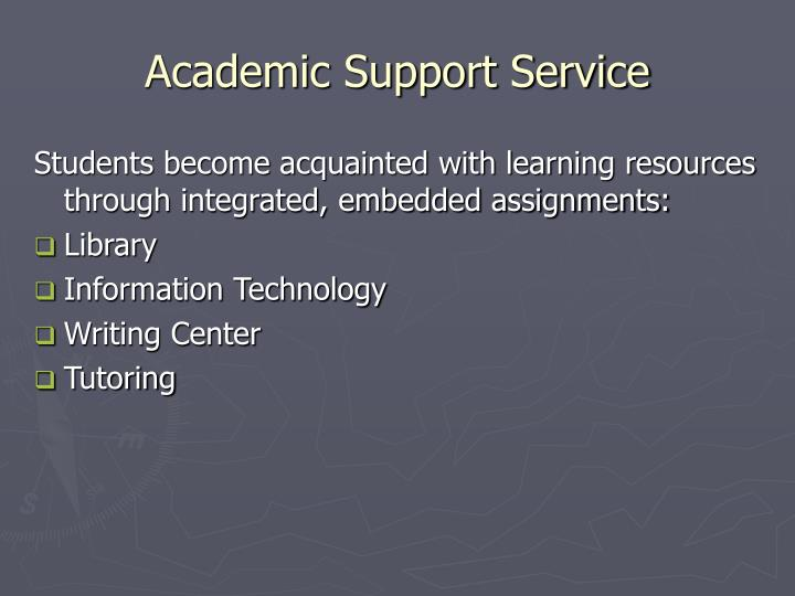 Academic Support Service