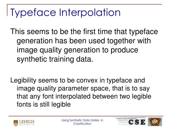 Typeface Interpolation