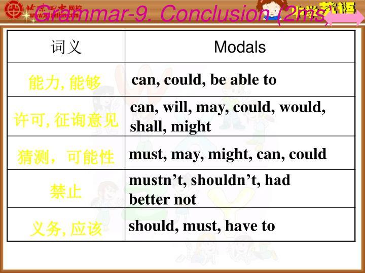 Grammar-9. Conclusion (2ms)