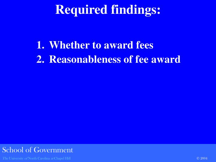 Whether to award fees