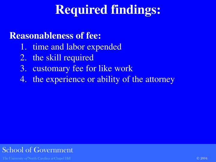 Reasonableness of fee: