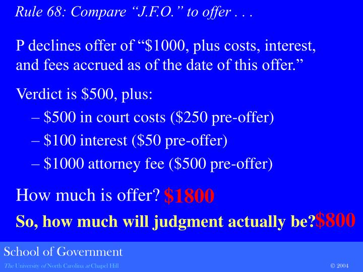 "P declines offer of ""$1000, plus costs, interest, and fees accrued as of the date of this offer."""