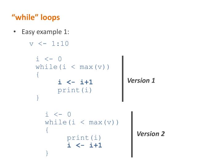 """""""while"""" loops"""
