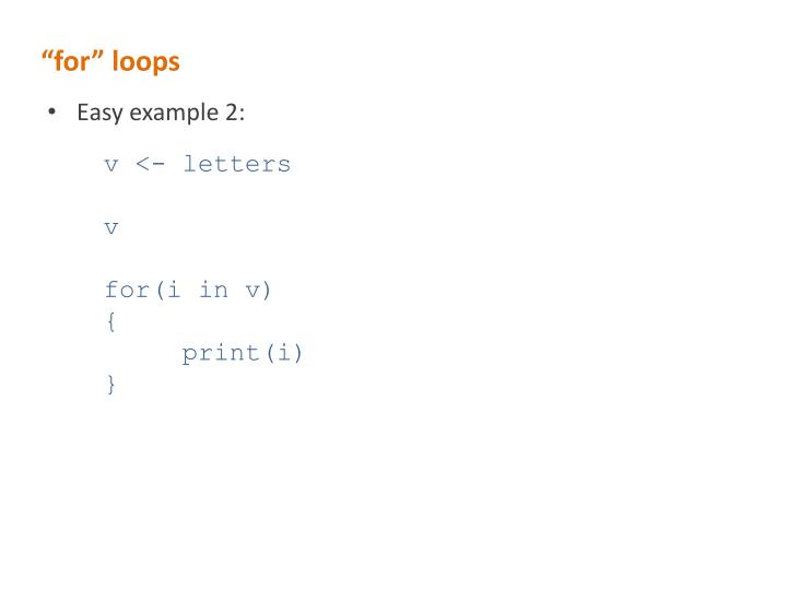 """""""for"""" loops"""