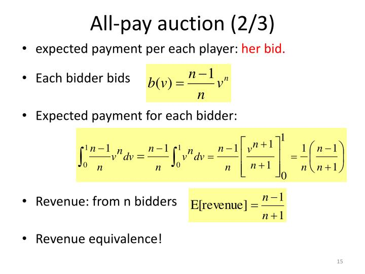 All-pay auction (2/3)