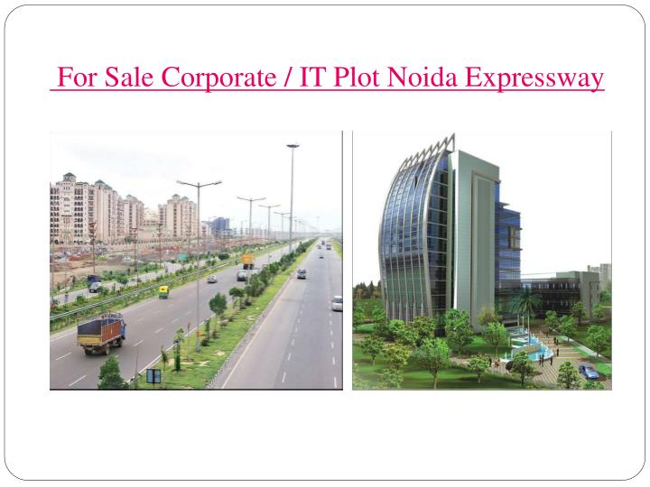 For sale corporate it plot noida expressway
