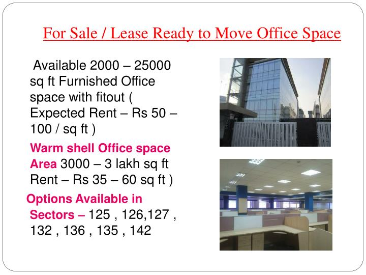 For sale lease ready to move office space