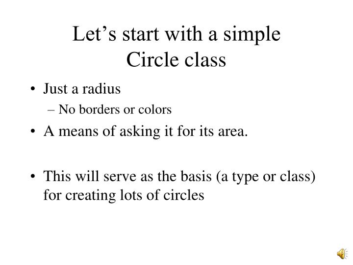 Let's start with a simple