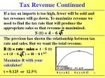 tax revenue continued