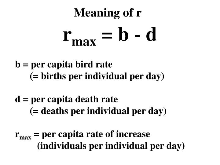 Meaning of r